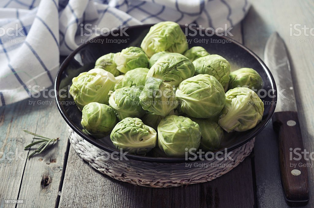 Fresh brussels sprout royalty-free stock photo