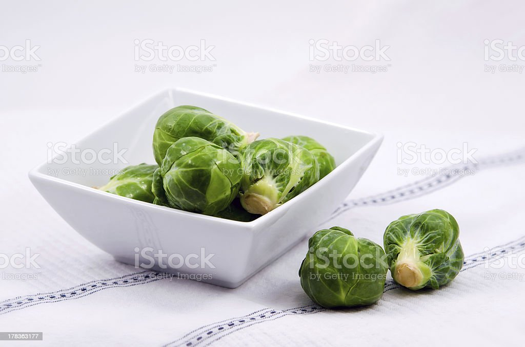 Fresh Brussels Sprouts royalty-free stock photo