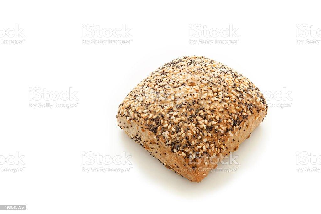 Fresh buns made of wheat flour stock photo