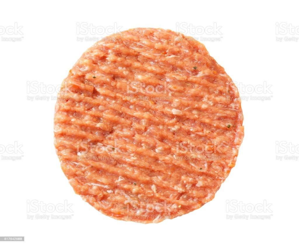 Fresh burger patty stock photo