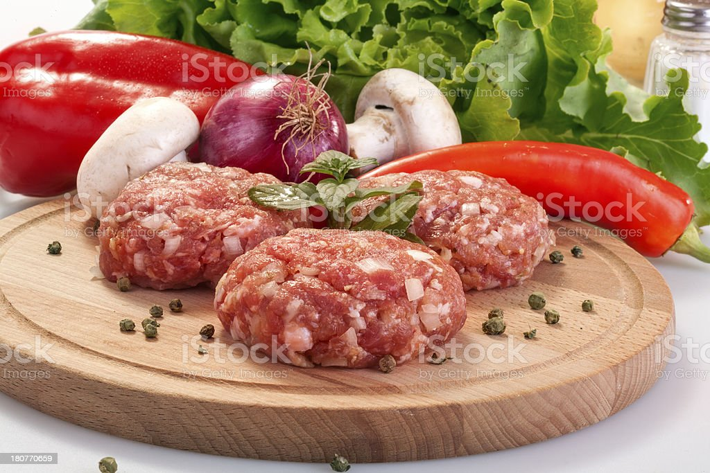 fresh burgers royalty-free stock photo