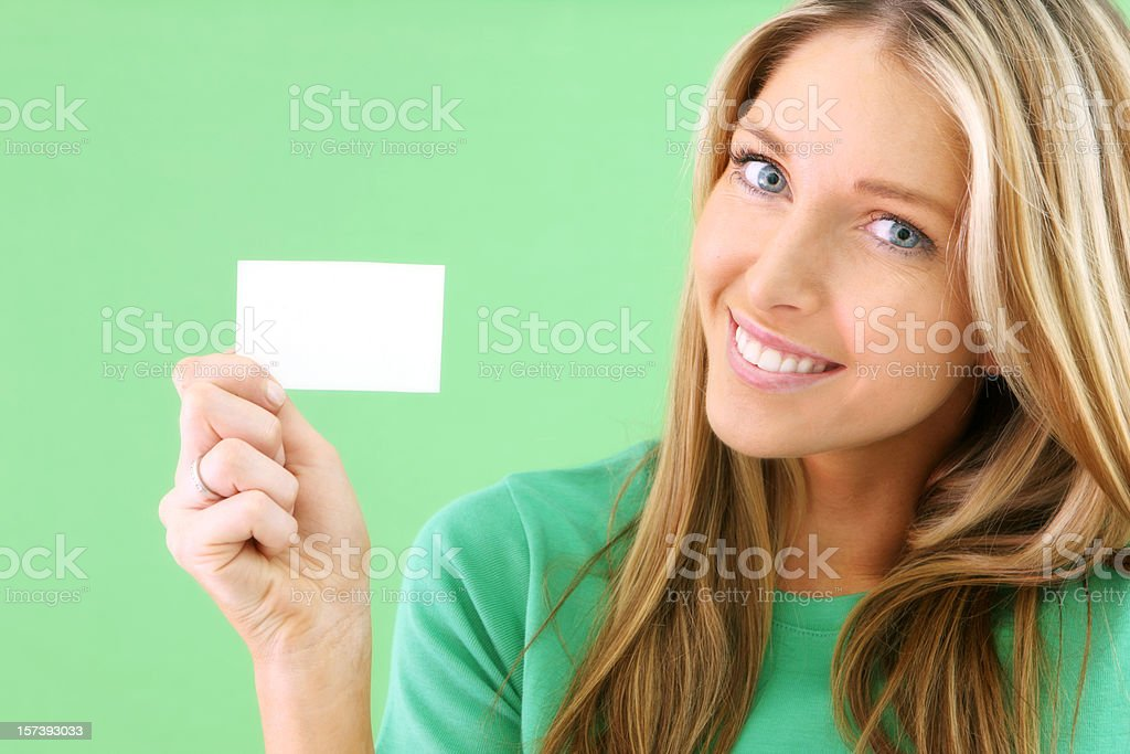 Fresh Business Card royalty-free stock photo