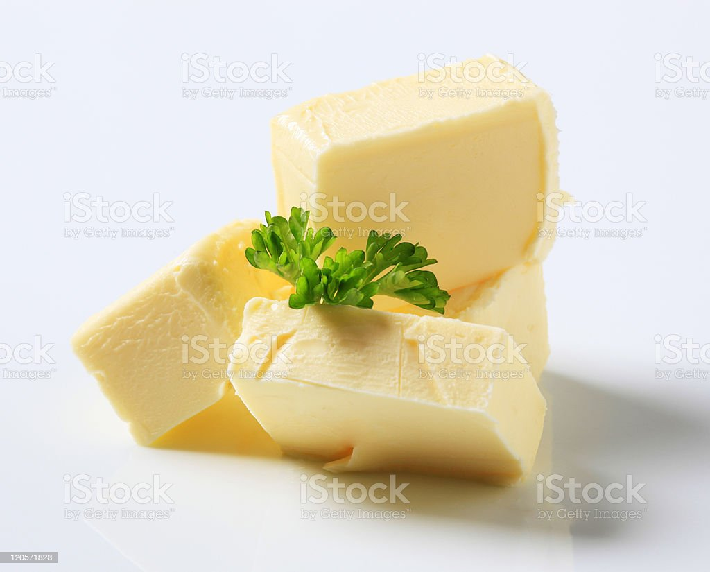 Fresh butter royalty-free stock photo
