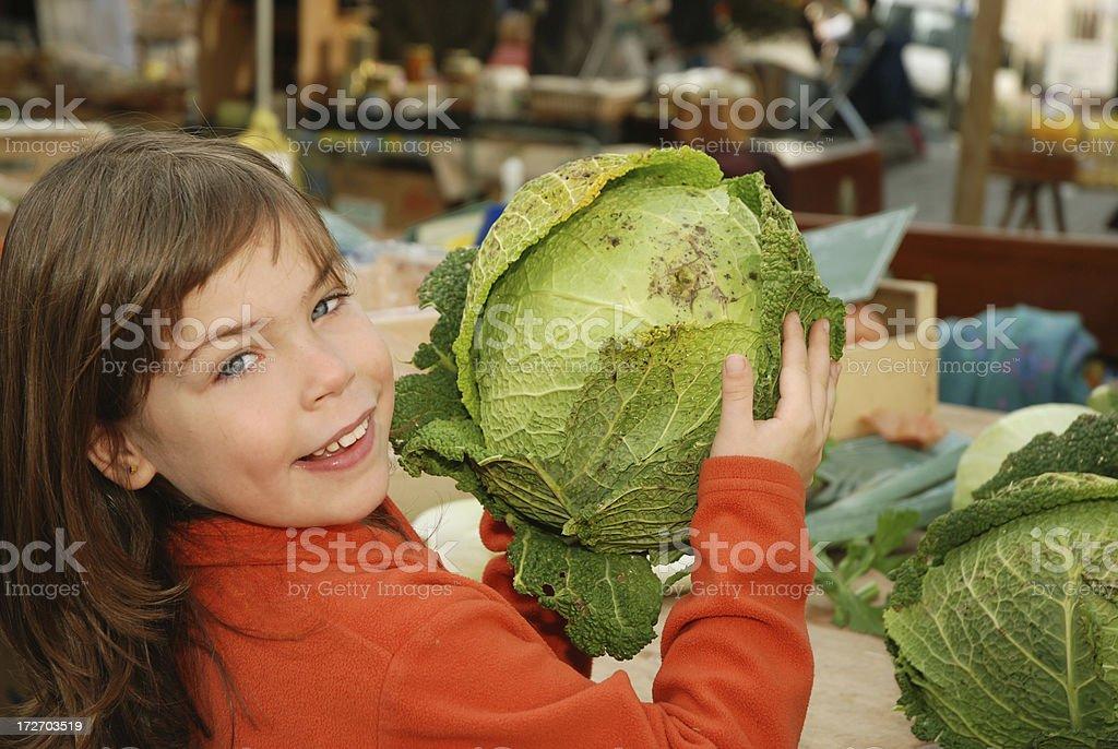 Fresh cabbage royalty-free stock photo