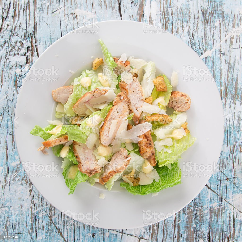 Fresh Caesar salad stock photo