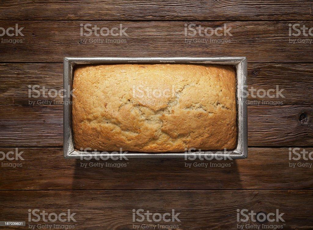 Fresh Cake on Wooden Background stock photo