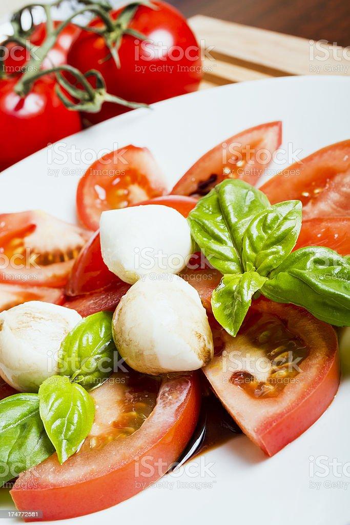 Fresh caprese salad royalty-free stock photo