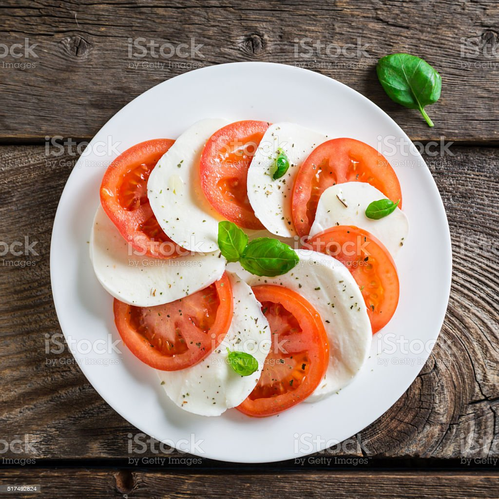 Fresh Caprese Salad stock photo
