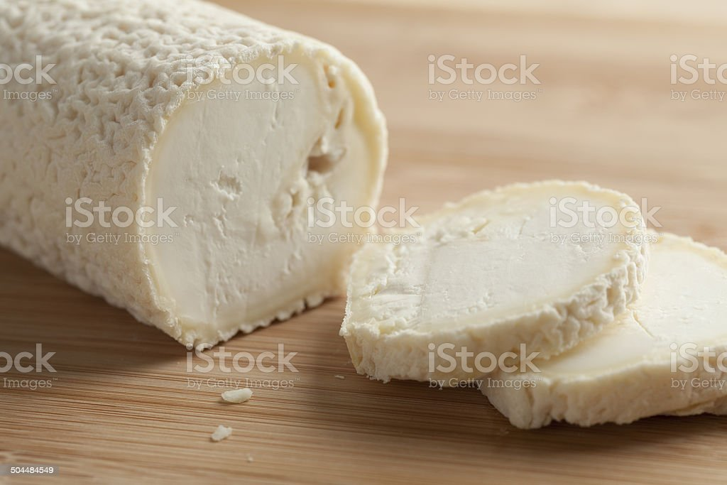 Fresh caprifeuille cheese stock photo