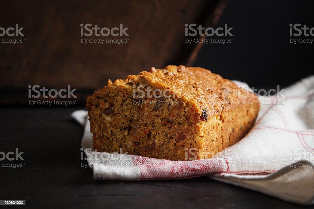 Fresh carrot cake stock photo