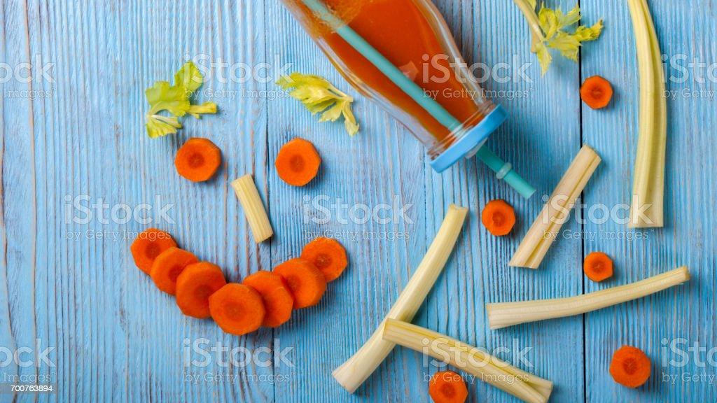 Fresh Carrot juice stock photo