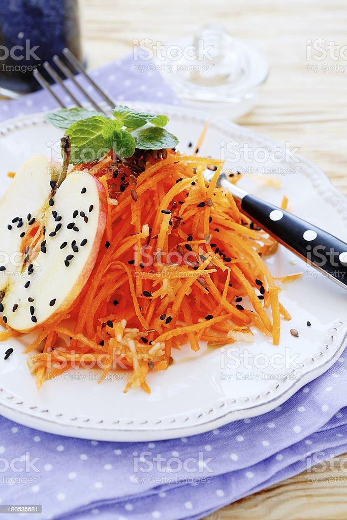 fresh carrot salad royalty-free stock photo