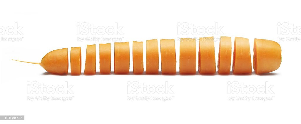 Fresh carrot sliced studio shot on white background royalty-free stock photo