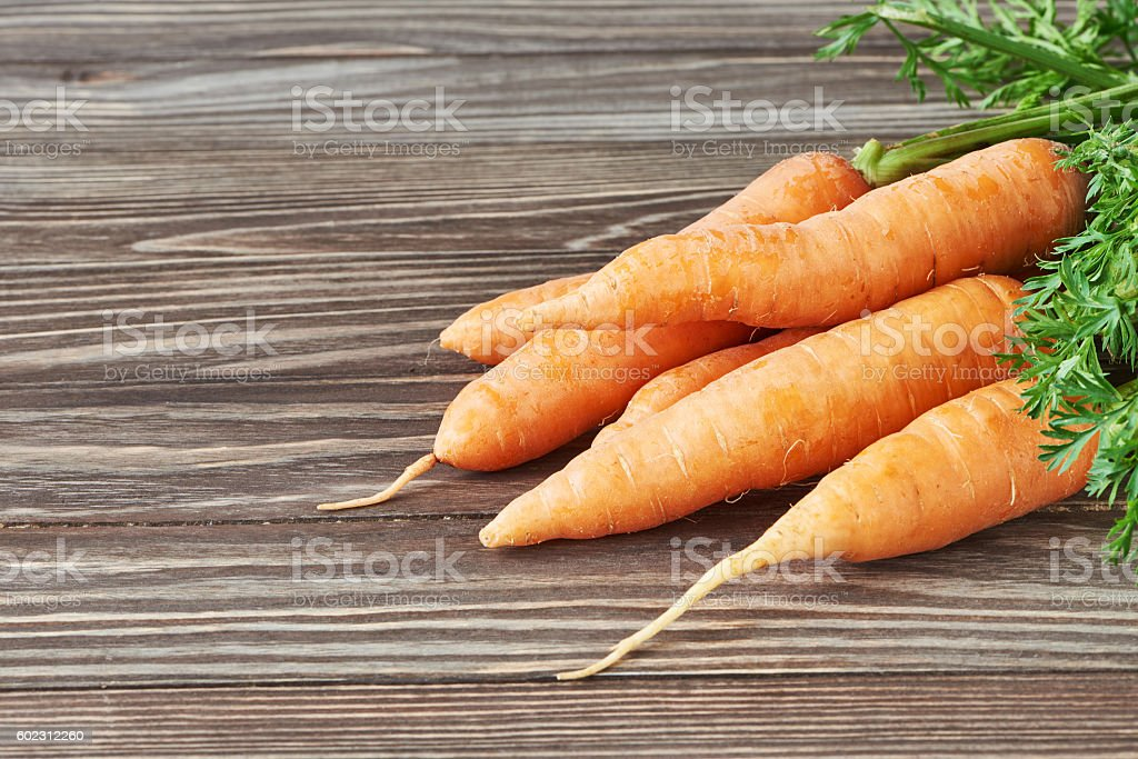 Fresh carrots bunch stock photo