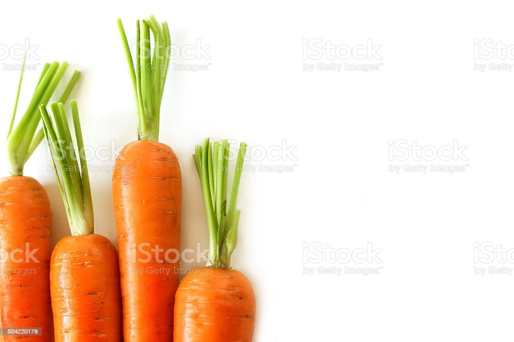 Fresh carrots - care about healthy nutrition stock photo