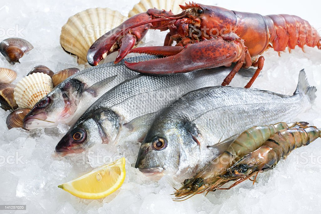 Fresh catch stock photo