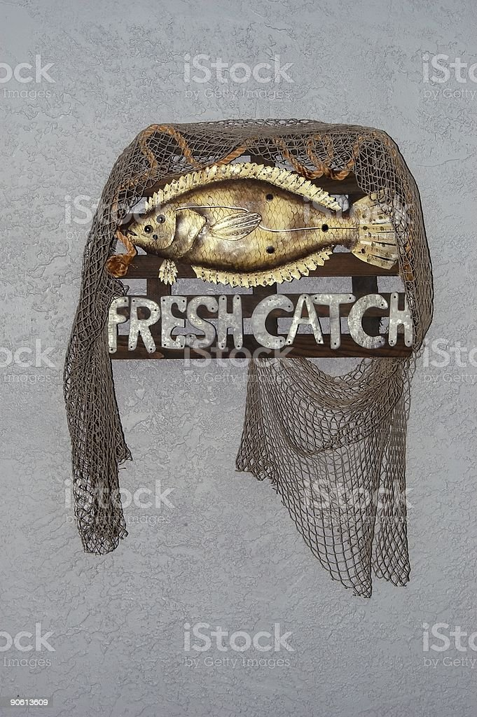 Fresh Catch Sign royalty-free stock photo