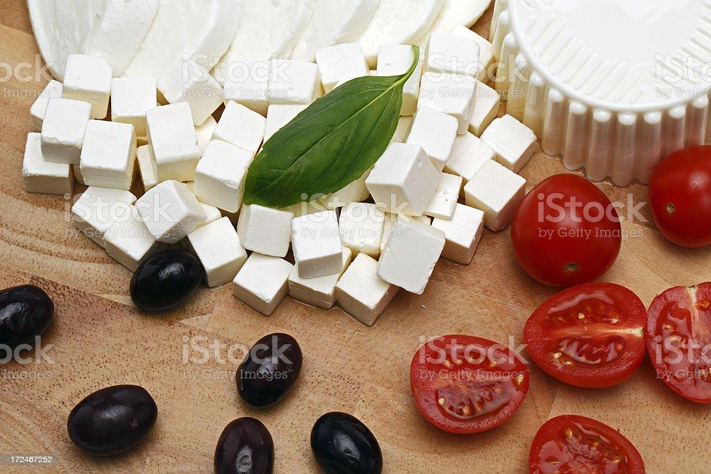 fresh cheese stock photo