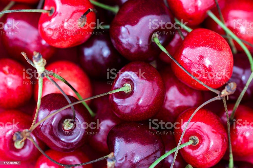 Fresh Cherries Background stock photo