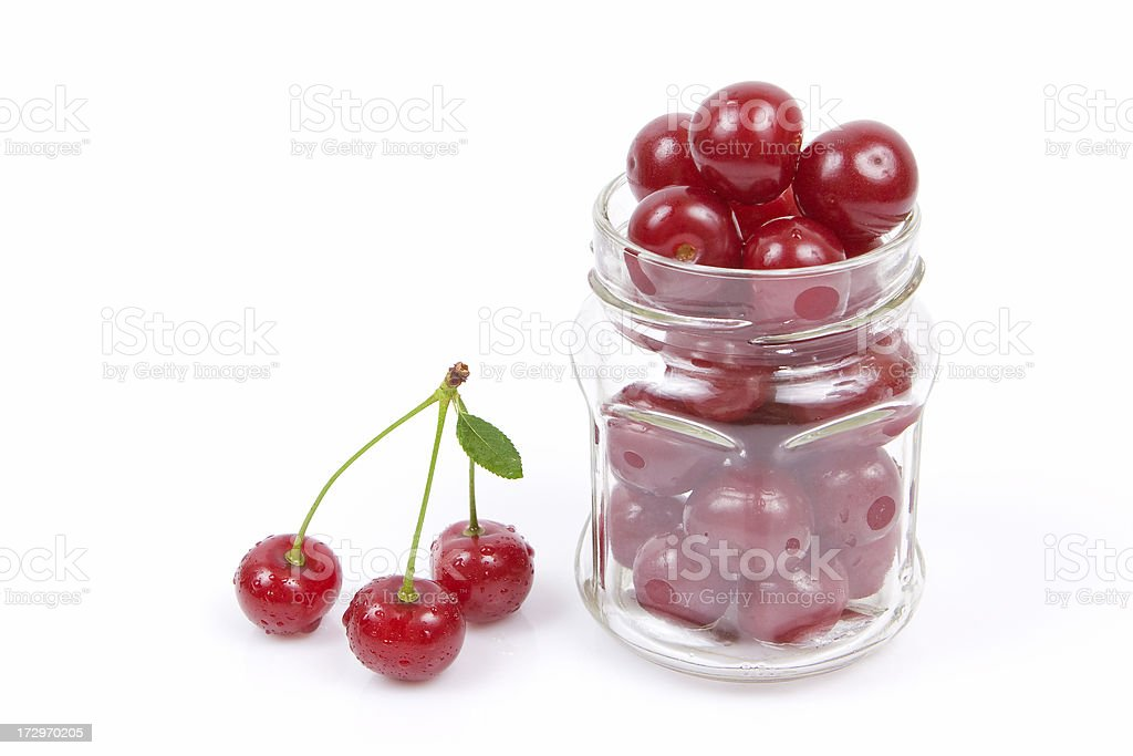 Fresh cherry isolated on white. royalty-free stock photo