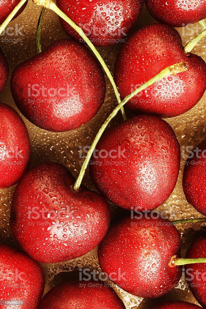 Fresh cherry royalty-free stock photo