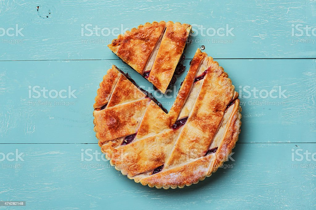 Fresh cherry pie stock photo