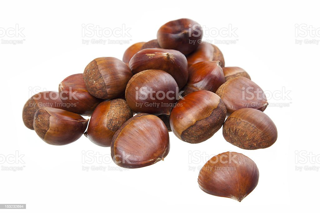 fresh chestnuts royalty-free stock photo