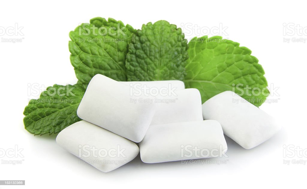 Fresh chewing gum stock photo