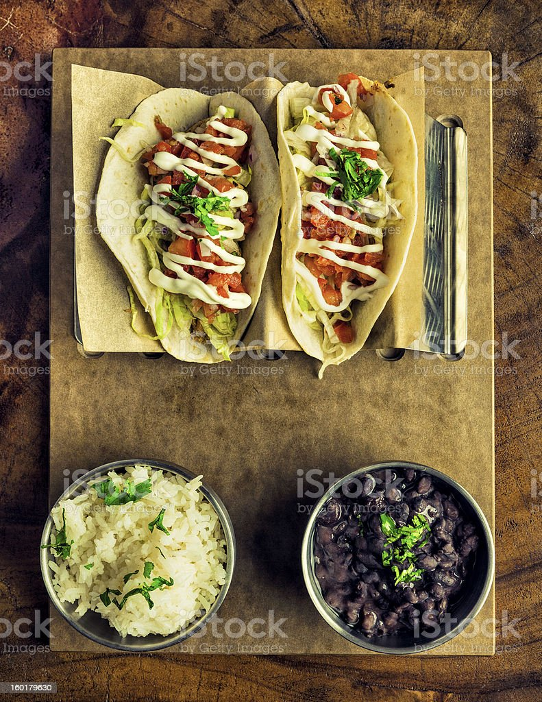 Fresh Chicken Tacos royalty-free stock photo