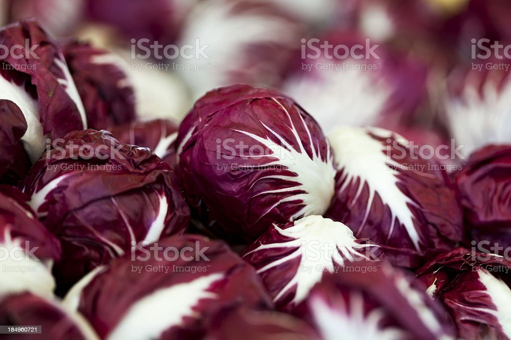 Fresh chicory on marketplace stock photo