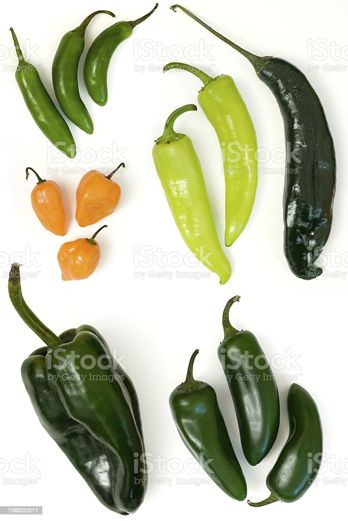 Fresh Chili Peppers stock photo