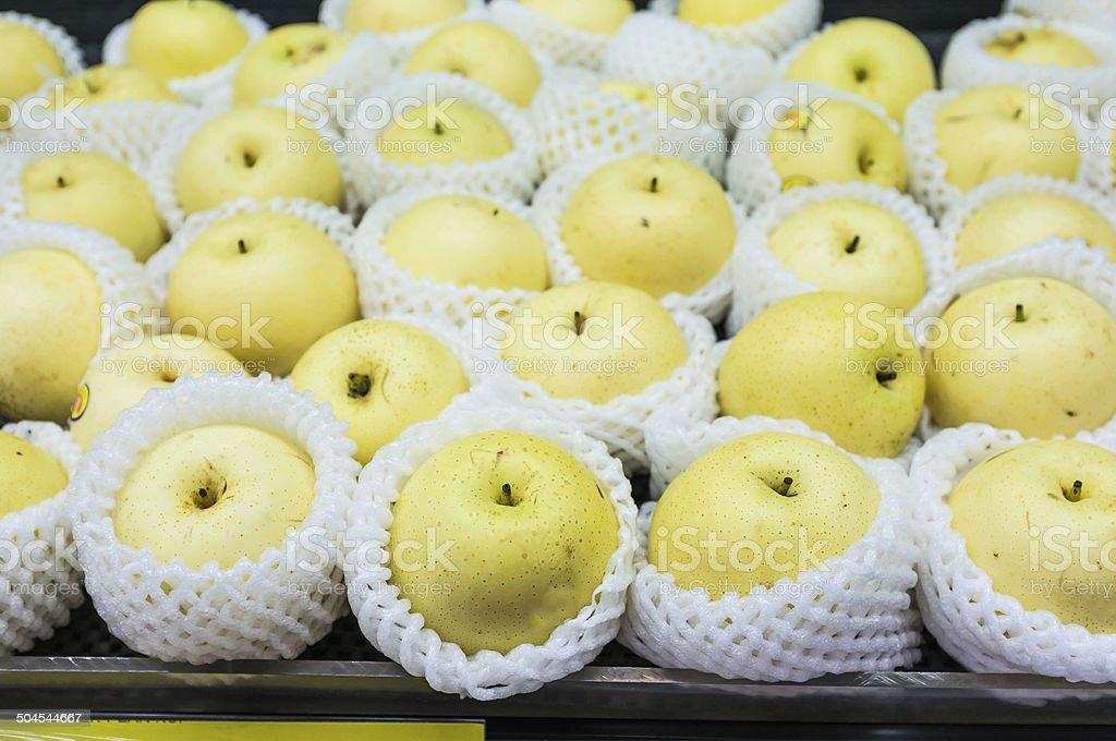 Fresh Chinese Pear stock photo