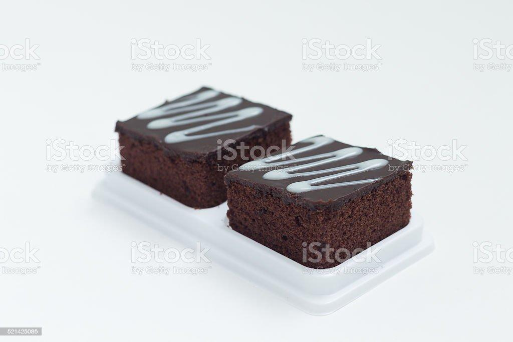 Fresh chocolate brownies stock photo