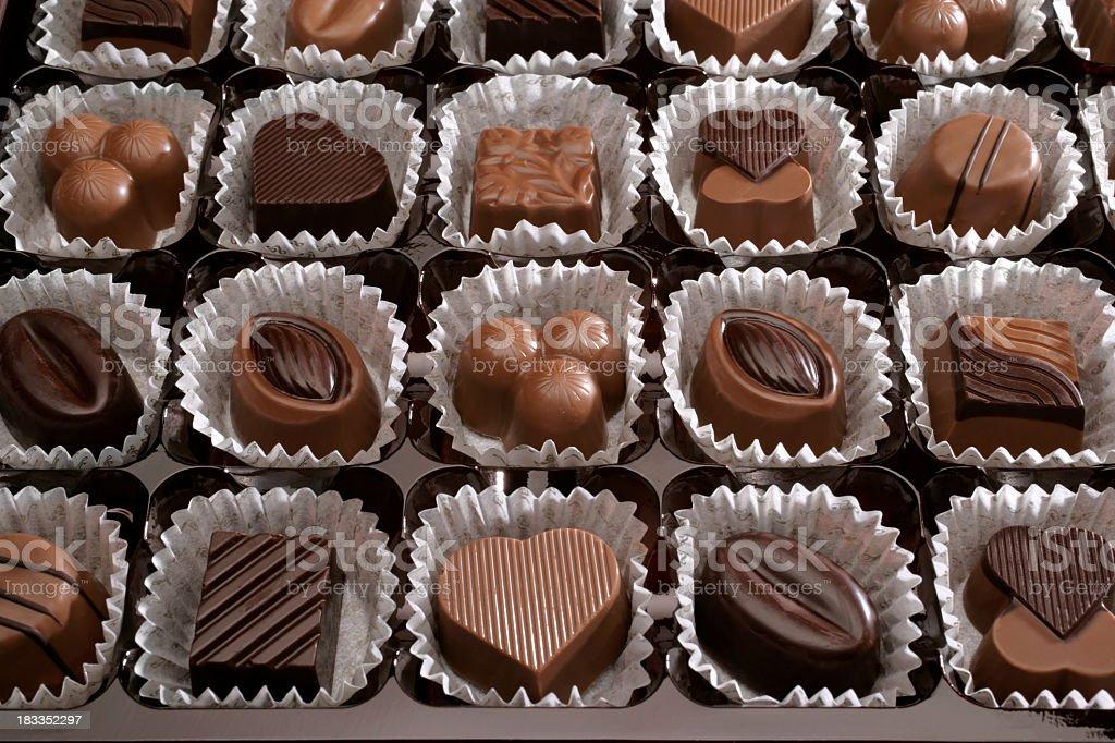 fresh chocolates stock photo