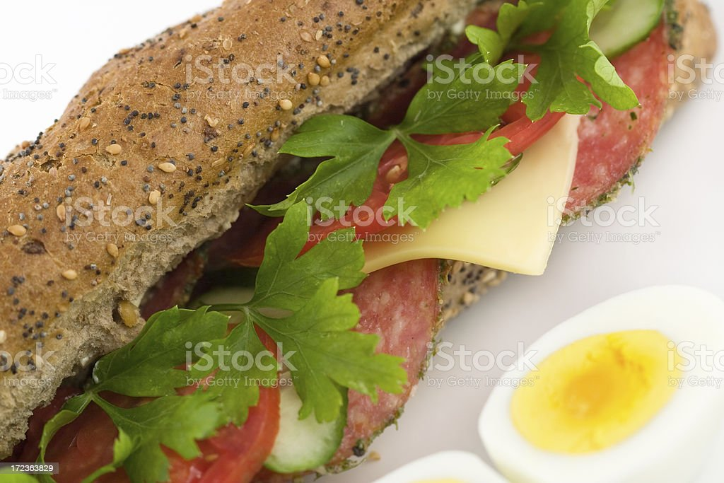 fresh club sandwich royalty-free stock photo