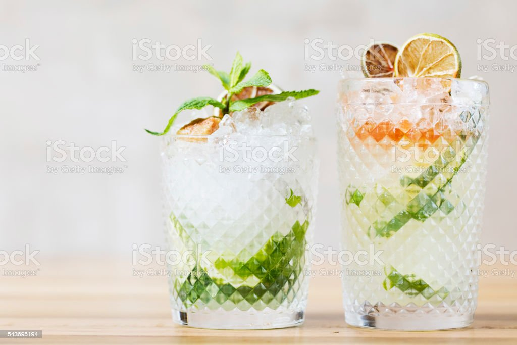 Fresh cocktails stock photo
