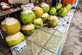 Fresh Coconit at Roadside Stall in Borneo