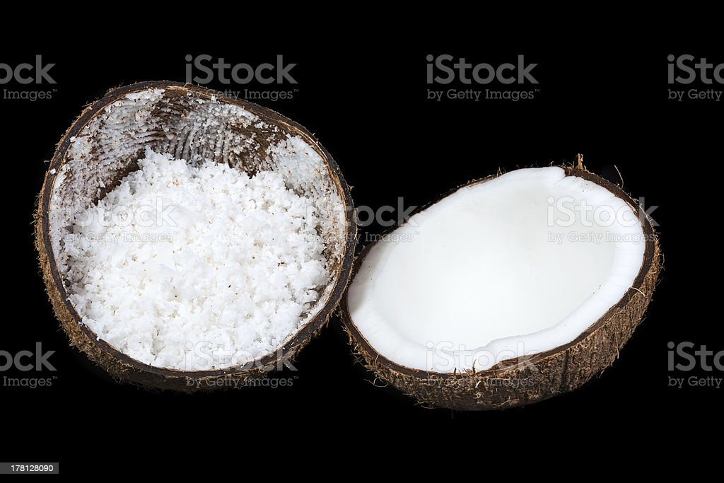 Fresh coconut in isolated royalty-free stock photo