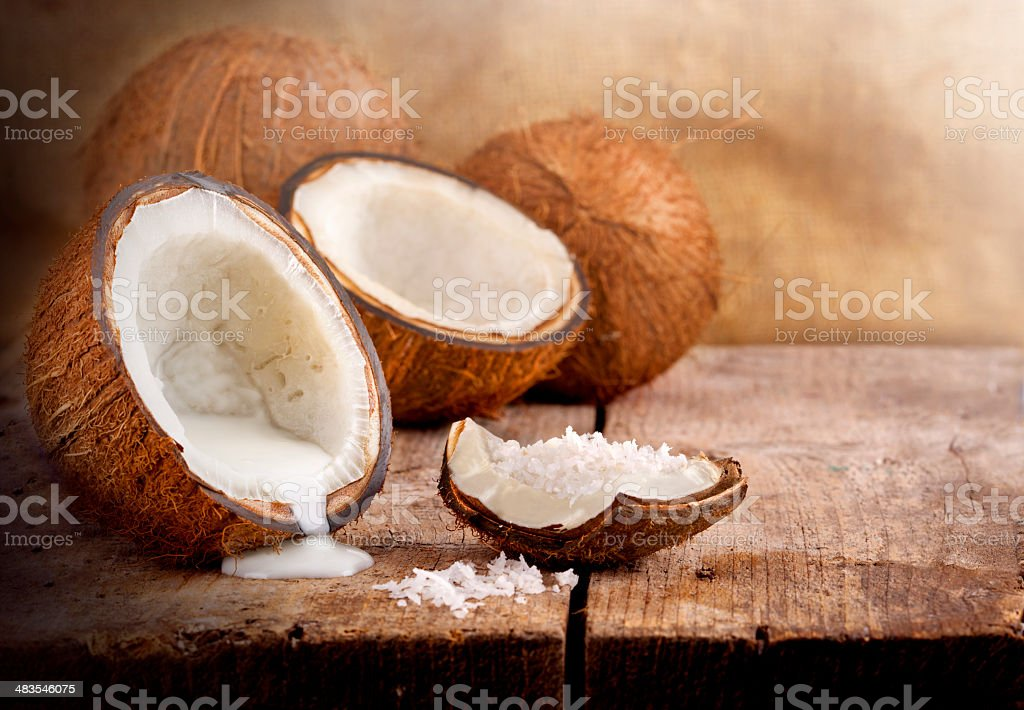 Fresh coconut stock photo