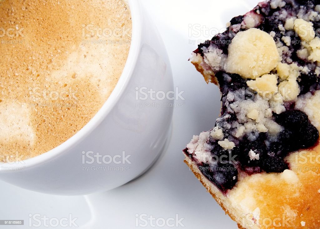 Fresh coffee and pie royalty-free stock photo