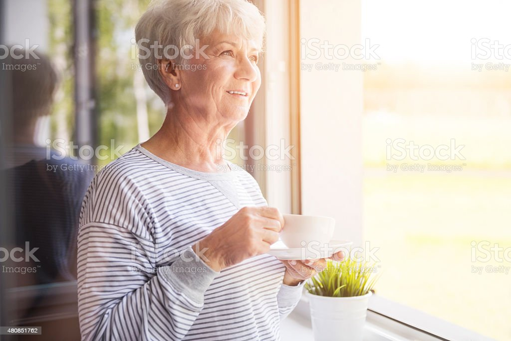 Fresh coffee at the morning stock photo
