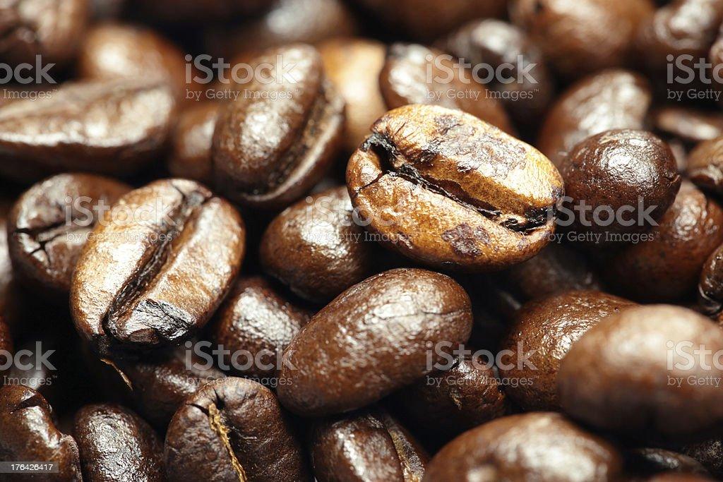 fresh coffee beans royalty-free stock photo