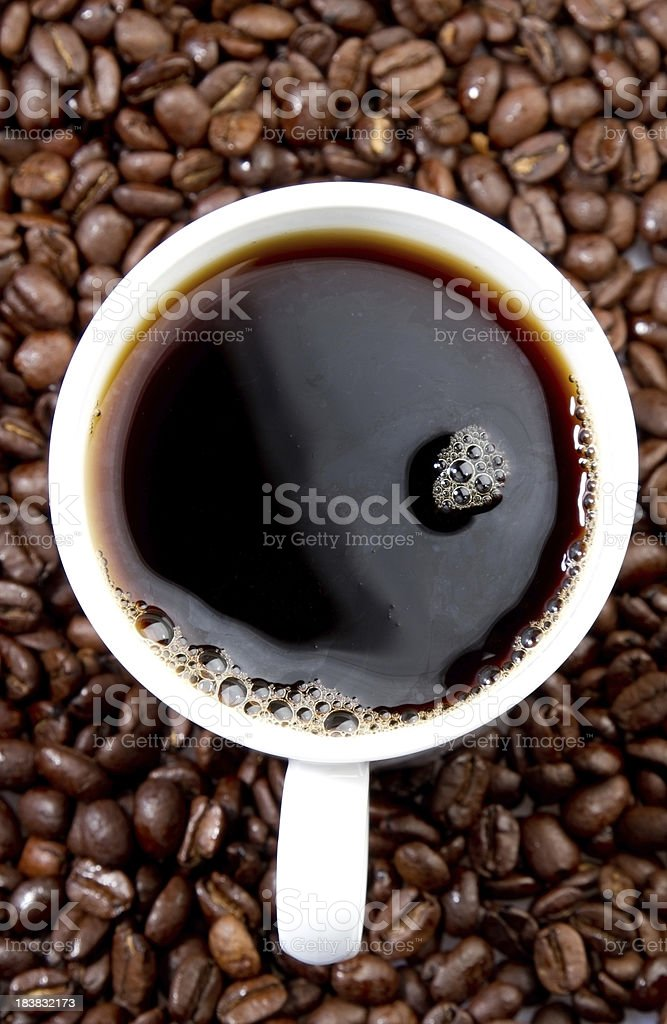 Fresh coffee royalty-free stock photo