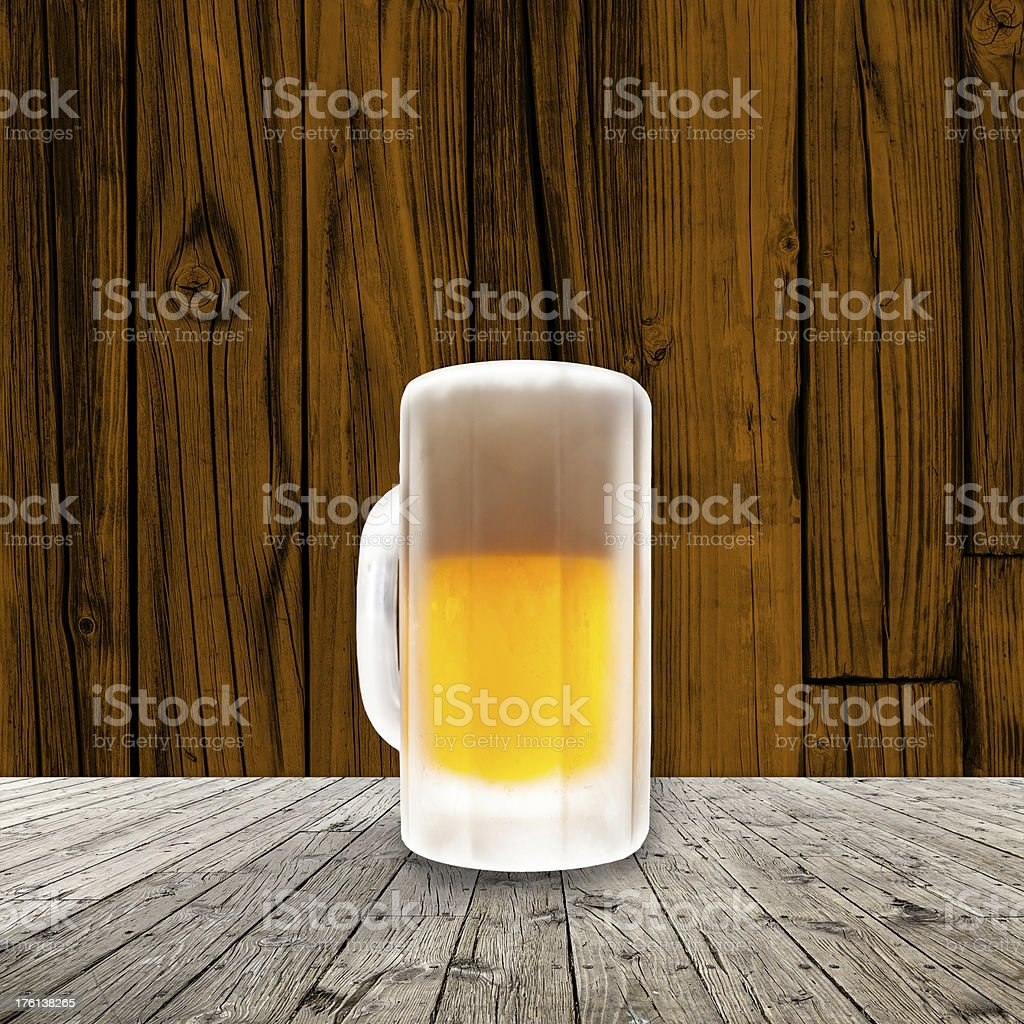 Fresh cold beer given in chilled pint royalty-free stock photo