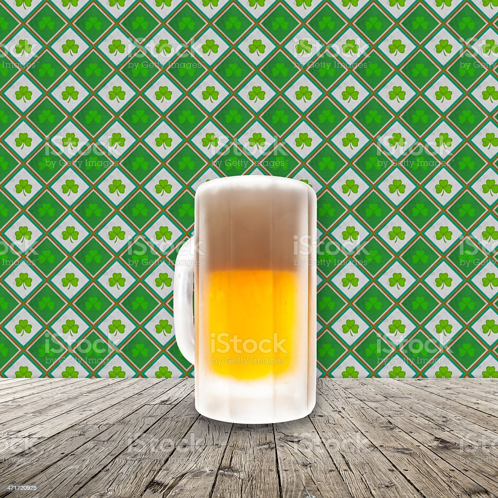 Fresh cold beer given in chilled pint vector art illustration