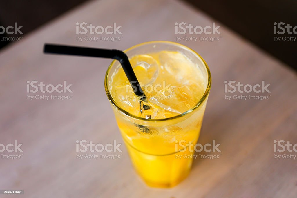 Fresh cold orange juice stock photo