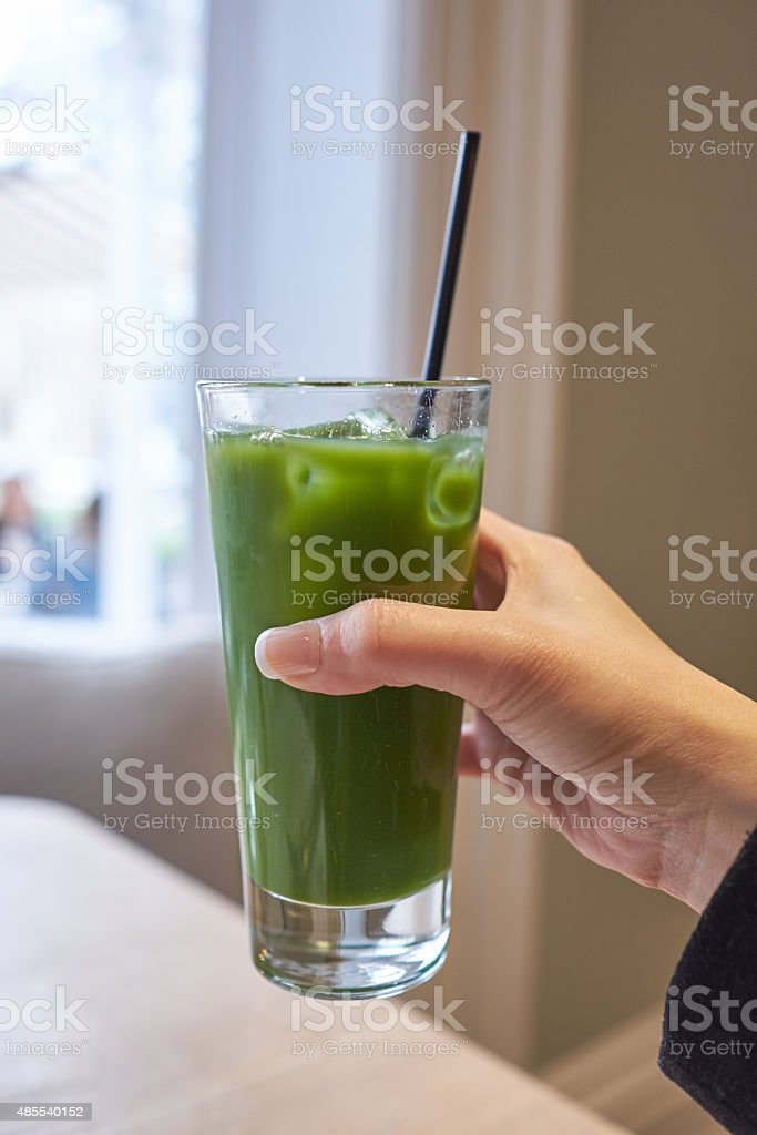 fresh cold press juice stock photo