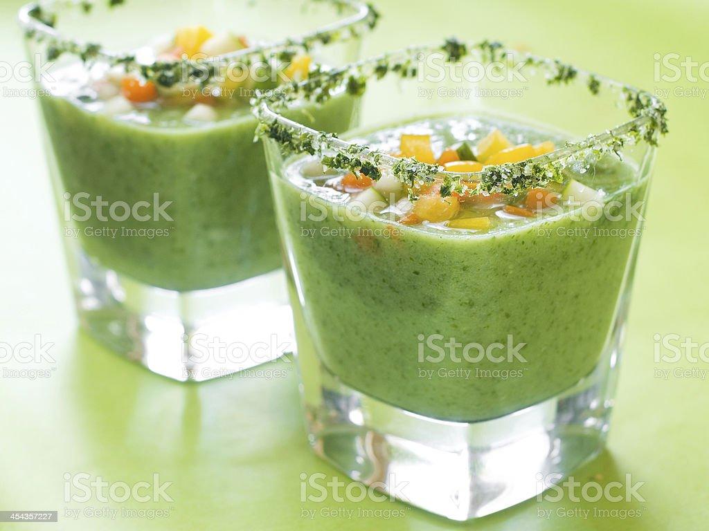 Fresh cold soup (gazpacho) royalty-free stock photo