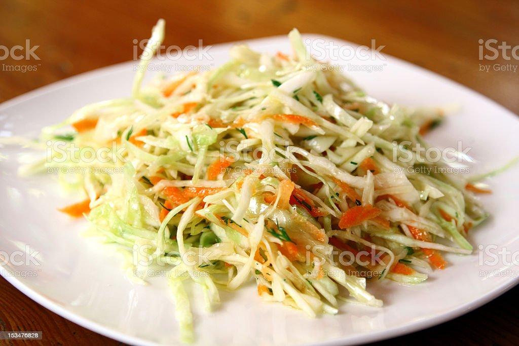 fresh coleslaw salad stock photo