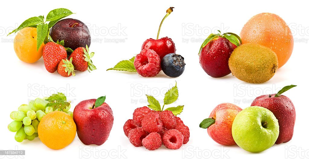 fresh colorful fruit group composition royalty-free stock photo